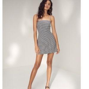 NWOT Aritzia Wilfred Isabelle Gingham Mini Dress
